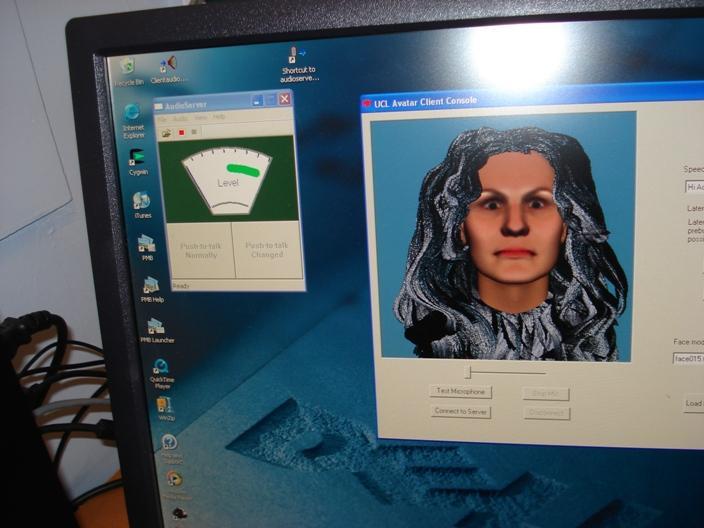 Alcuni avatar mostrati da leff durante la conferenza
