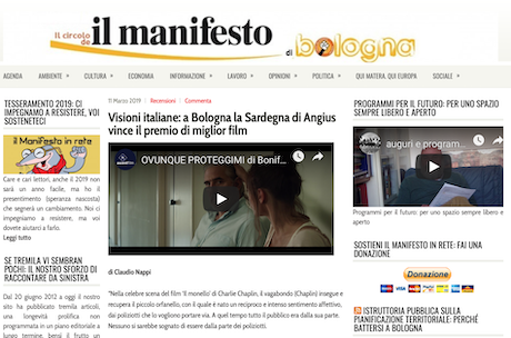 NEWS! REDATTORI QUOTIDIANI<br>    <span> Trincas:  Visioni italiane: a Bologna la Sardegna di Angius vince il premio di miglior film  </span>
